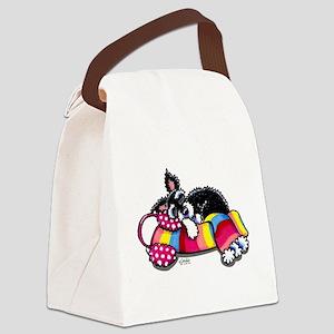 Warm Schnauzer Canvas Lunch Bag
