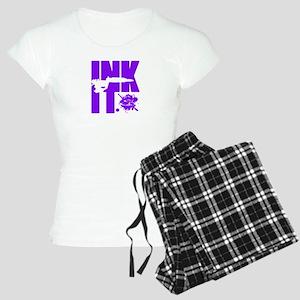 INK IT by seniadelic (purple) Women's Light Pajama