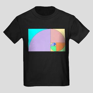 Golden Ratio spiral Kids Dark T-Shirt