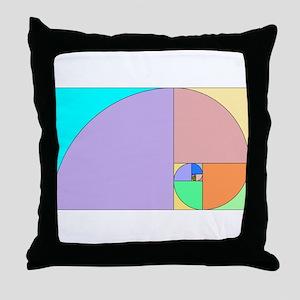 Golden Ratio spiral Throw Pillow