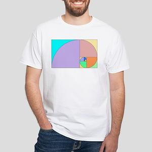 Golden Ratio spiral White T-Shirt