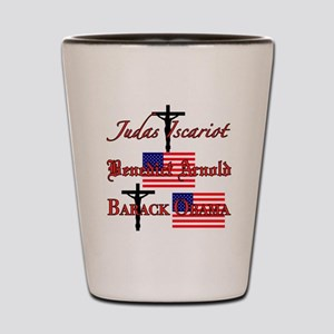 Traitor to God and country Shot Glass