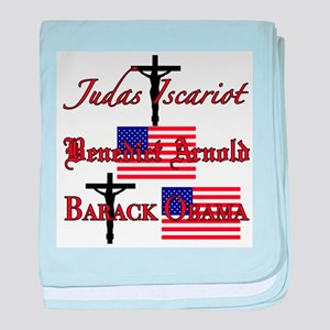 Traitor to God and country baby blanket