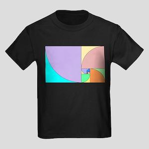 Golden Ratio Spirals Kids Dark T-Shirt