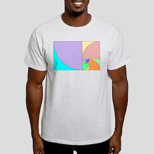 Golden Ratio Spirals Light T-Shirt