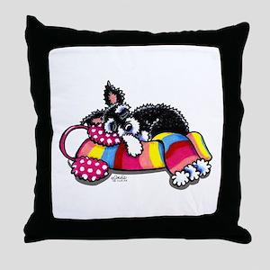 Warm Schnauzer Throw Pillow