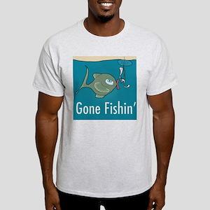 Gone Fishin, Funny Fishing Light T-Shirt