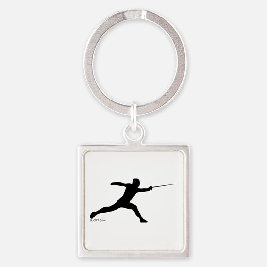 Lunge Square Keychain