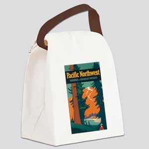 Pacific Northwest Rocky Mountains Canvas Lunch Bag