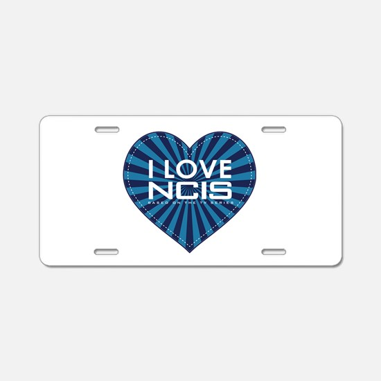 I Love NCIS Aluminum License Plate