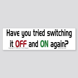 Switch On/Off. Bumper Sticker