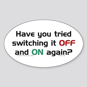 Switch On/Off. Oval Sticker