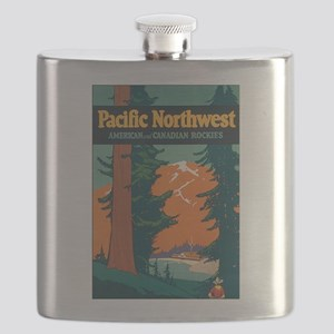 Pacific Northwest Rocky Mountains Flask