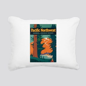 Pacific Northwest Rocky Rectangular Canvas Pillow