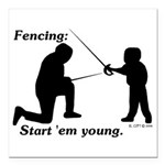 Young Square Car Magnet 3