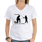 Young Women's V-Neck T-Shirt