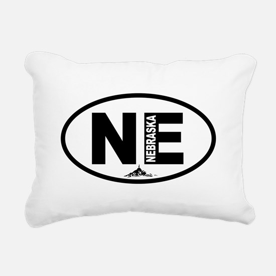 Nebraska Chimney Rock Rectangular Canvas Pillow