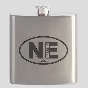 Nebraska Chimney Rock Flask