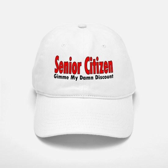Senior Citizen Discount Baseball Baseball Cap