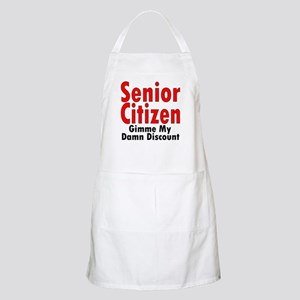 Senior Citizen Discount BBQ Apron
