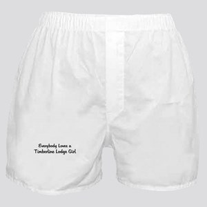 Timberline Lodge Girl Boxer Shorts