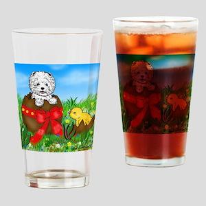 Easter Westie Drinking Glass