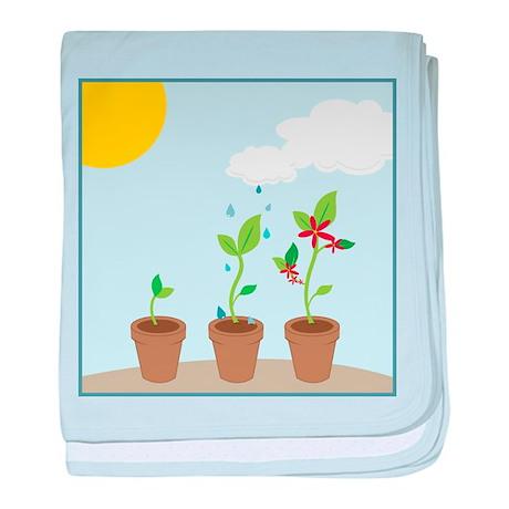 Seedlings baby blanket