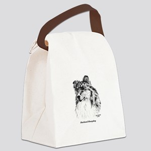 Shetland Sheepdog Canvas Lunch Bag