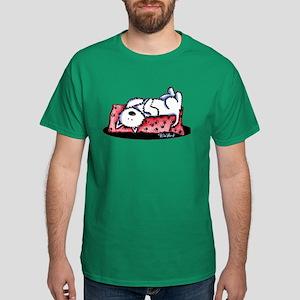 Lazy Day Westie Dark T-Shirt