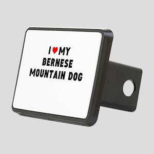 ILOVE MY BERNESE MTN DOG Rectangular Hitch Cover