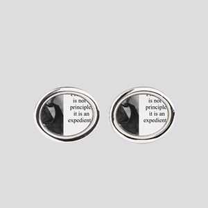 Free Trade Is Not A Priciple - Disraeli Oval Cuffl