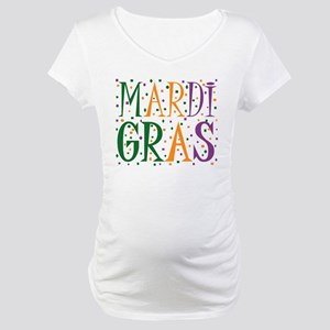 MARDI GRAS Maternity T-Shirt