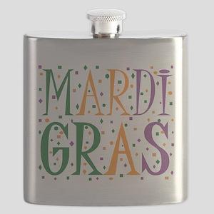 MARDI GRAS Flask