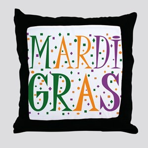 MARDI GRAS Throw Pillow