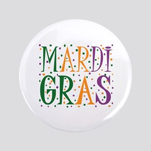 "MARDI GRAS 3.5"" Button"