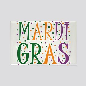 MARDI GRAS Rectangle Magnet