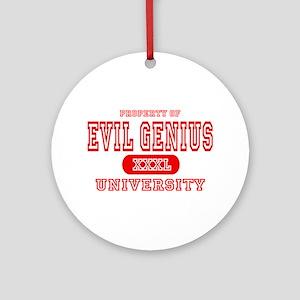 Evil Genius University Ornament (Round)
