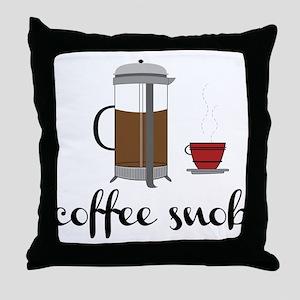Coffee Snob Throw Pillow