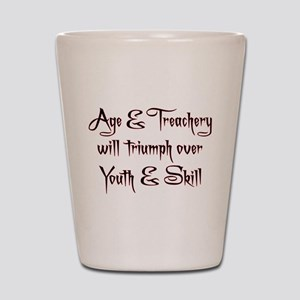 Age Treachery Shot Glass