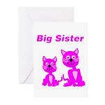 Big Sister Pink Kittens Greeting Cards (Pk of 10)