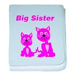 Big Sister Pink Kittens baby blanket