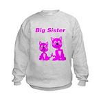 Big Sister Pink Kittens Kids Sweatshirt