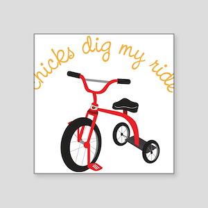 "My Ride Square Sticker 3"" x 3"""