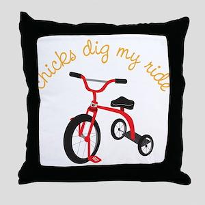 My Ride Throw Pillow
