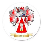Arrigo Round Car Magnet