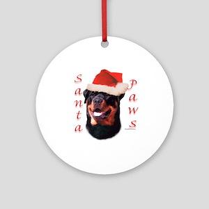 Santa Paws Rottweiler Ornament (Round)