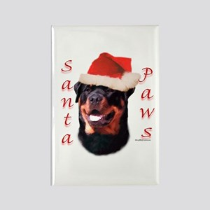Santa Paws Rottweiler Rectangle Magnet