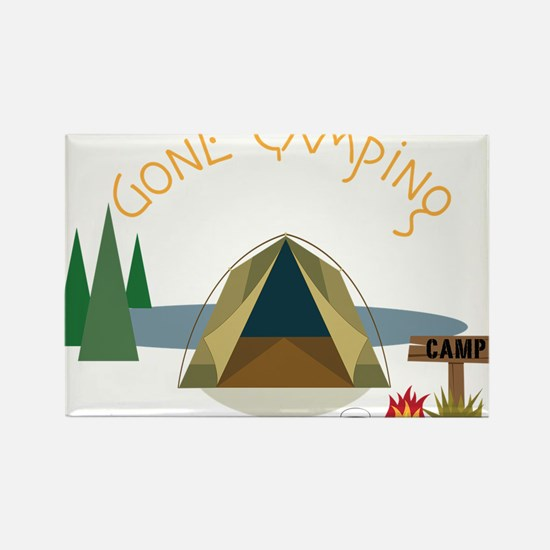 Gone Camping Rectangle Magnet