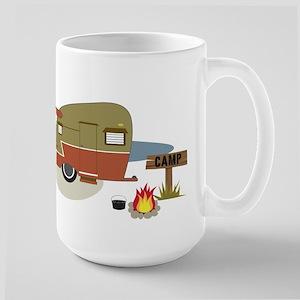 Camping Trailer Large Mug