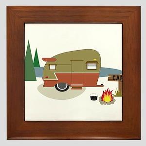 Camping Trailer Framed Tile